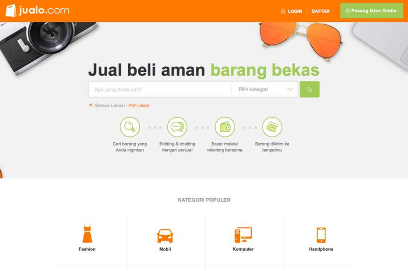 Tampilan Depan Jualo.com