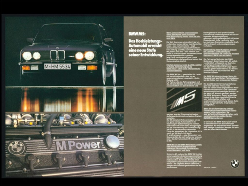 brosur bmw m5 generasi 1