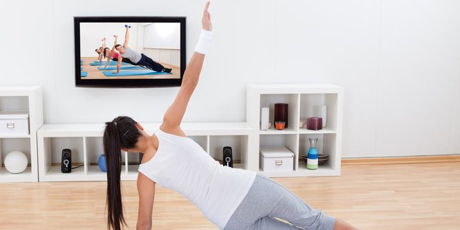 olahraga di rumah aja nonton video