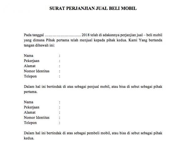 Dokumen Jual Mobil