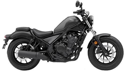 Honda Rebel warna hitam
