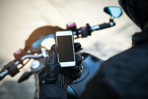 sarung tangan motor smartphone