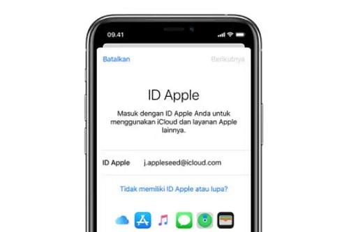 apple id iphone bekas