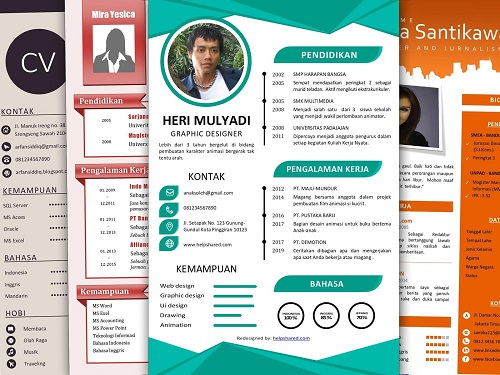 Layout CV Menarik