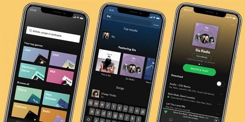aplikasi smartphone-spotify