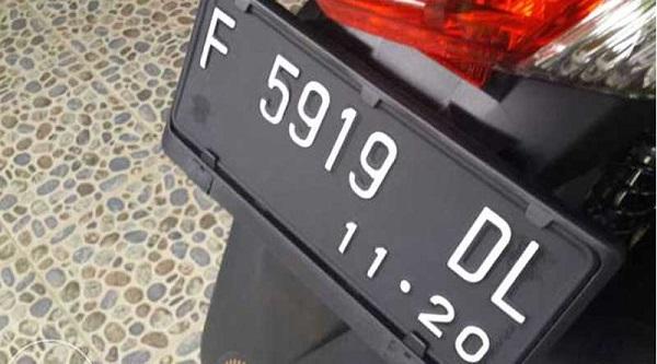 biaya ganti plat motor